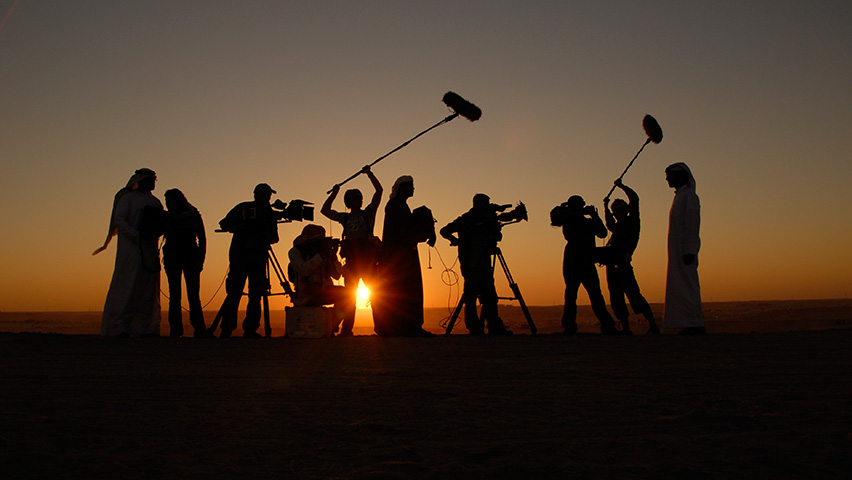 a film production crew